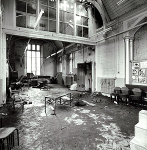 The remains of the hall at the school [FSD/RR1/111]